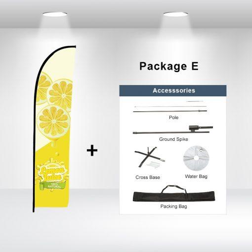 Straight Advertising Flag Package E