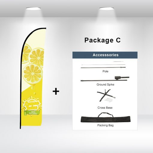 Straight Advertising Flag Package C