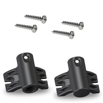 Upper/Lower Pole Brackets Kit – Standard w/Screws  (+$3.00)
