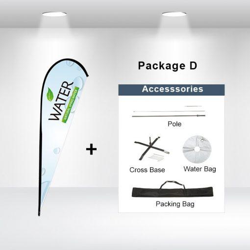 Teardrop Flag Package D