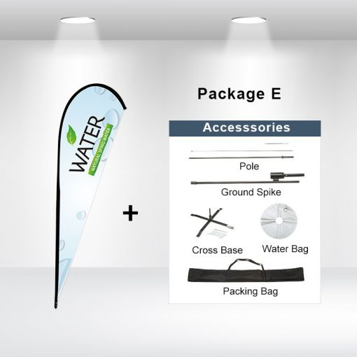 Teardrop Flag Package E